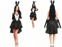 FREE SHIPPING zt 8179 Tuxedo Tail Black & White Bunny tutu Costume Fancy Dress Easter Bunny Costume