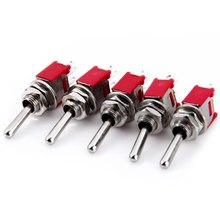 High Performance New 5Pcs AC 240V 3A 3Pin ON OFF Toggle Switch for DIY Project(China)