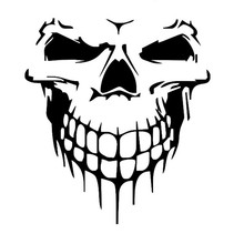 Halloween large size skull car sticker Car styling Glue Sticker Motorcycle Auto Reflective Decal For ford vw opel renault(China)