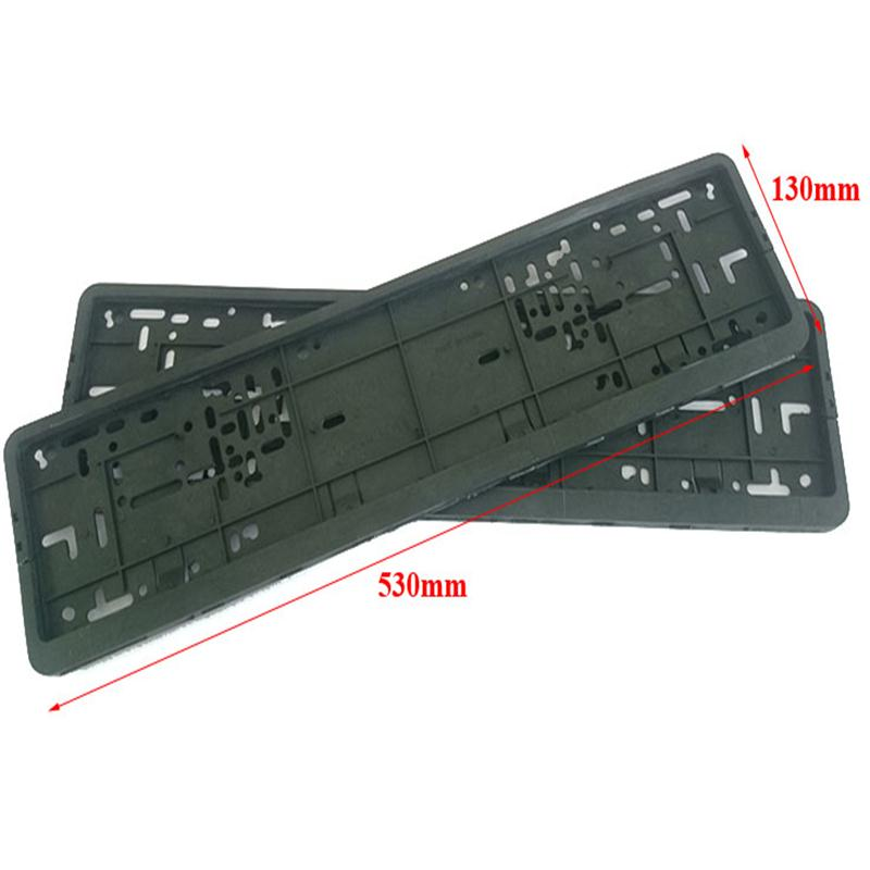 2x Universal European Euro License Number Plate Holders Frame Surrounds Trim Car