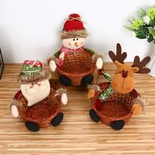 Christmas 18*18CM Candy Fruit Basket Xmas Event Apples Gift Basket Basket Christmas Desktop Decoration Home Party Supplies(China)