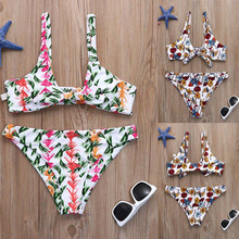 Buy FEITONG Women clothes Set Fashion Printed High Waist Bodysuit Beachwear Bathing Suit Separate Bodysuits Female 2018 for $8.15 in AliExpress store