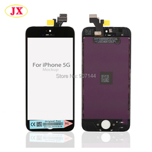20PCS/LOT LCD Screen for iPhone 5 5G with touch screen digitizer Full set Assembly White or Black color Free shipping by DHL UPS(China)