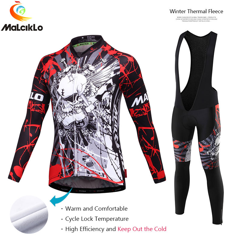 Malciklo Brand 2017 High Quality Pro Fabric Cycling Winter Thermal Fleece Jersey Long Set Ropa Ciclismo Bike Clothing Pants W003<br><br>Aliexpress