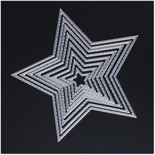 Boutique 8 pcs Carbon steel Embossing Five-pointed star Cutting Dies Stencil DIY Scrapbooking Wedding Album Paper Decor(China)