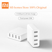 Buy Original Xiaomi USB Charger 2.4A MI 4USB Port Quick Charge iphone samsung Xiaomi travel wall charger adapter drop for $17.10 in AliExpress store