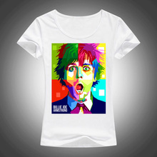 New Punk Music Style Billie Joe Amstrong in WPAP Green Day T shirt Women Shirt Good Quality Comfortable Brand Shirts Soft Tops(China)