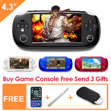New 8GB Handheld Game Console 4.3 Inch Portable Video Game Console build in 1200+ real no-repeat Games for gba/gbc/fc/sfc/smd