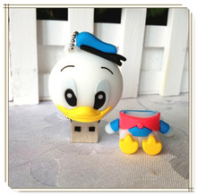 cartoon duck usb flash drive 2.0 usb flash drives thumb pendrive u disk usb creativo memory stick  wholesale 4GB-64GB S243