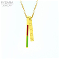 2017-New-Luxury-Brand-Short-Necklace-Stainless-Steel-Rose-Gold-Plated-Red-Green-Resin-Love-Double.jpg_200x200