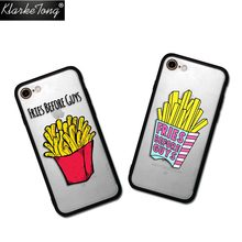 Hamburgers Fries Before Guys French Fries Case For iPhone 7 6 6s Plus 5 5s SE Hybrid Silicone Matte Protective Hard Phone Cover