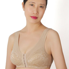 Middle age & old women wireless cotton bra plus size bra 75-100 B C D cup Comfortable air permeability absorb sweat bra C3-5