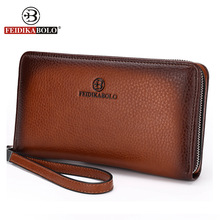 FD BOLO Brand Bag Men clutch Bags Monederos Carteras Mujer Luxury Male Leather Purse Men's Clutch Wallets Handy Bags Man Wallets