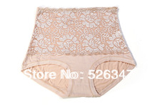 Buy Sexy Women Lace Flower High Waisted Girdle Underwear Panty Tummy Knicker Shorts Nude