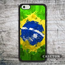 Flag Brazil Case For iPhone 7 6 6s Plus 5 5s SE 5c and For iPod 5 High Quality Oil Paint Classic Cover Free Shipping
