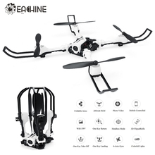 2017 Eachine E53 WiFi FPV Selfie Drone with 0.3MP HD Camera Foldable Arms Altitude Hold RC Quadcopter Helicopter Toy VS JJRC H37(China)