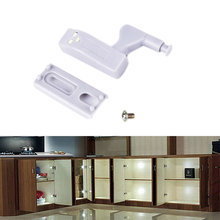 Universal Furniture Cupboard/Wardrobe Hinge LED Lamp Door Open Auto ON LED Bulb Energy Saving Modern Home Kitchen Lights(China)