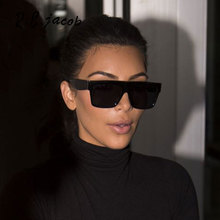 Square Celebrity Italy Brand Designer famous Kim Kardashian Sunglasses Lady UV400 Women Men Sun Glasses 50S Female Hot