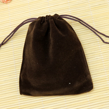 Free Shipping,100pcs/Lot 10x12cm Coffee Christmas Wedding voile gift bag Velvet Bags Jewelry packing Gift Pouches(China)