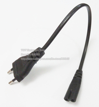 Short Travel Camera Power Cable, European Round 2pin Male Plug to IEC 60320 C7 Socket Cord for Digital Camera,5pcs,Free shipping