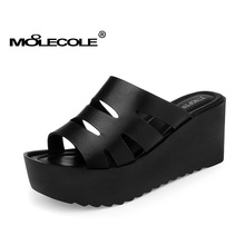MOOLECOLE Women's Summer Fashion Wedges Shoes Sleeper Heel Height 7.5CM Factory Direct Selling Size EUR35-39 Model 70111(China)