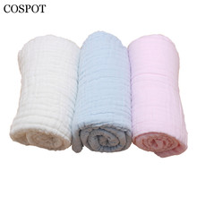 COSPOT Newborn Muslin Blanket Baby 6 Layers Gauze Bath Towel Swaddle Infant 100% Cotton Hold Wraps 110cm*110cm 350g 2017 New 30C