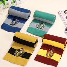 Harri Potter Scarf Gryffindor Slytherin Ravenclaw Hufflepuff Cotton Scarves for Women/Men/girl/boy Decoration wholesale(China)