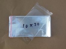 Clear Resealable Cellophane/BOPP/Poly Bags 10*20cm Transparent Opp Bag Packing Plastic Bags Self Adhesive Seal 10*20 cm(China)