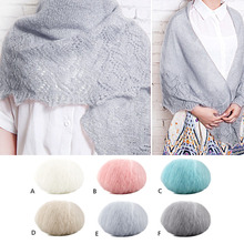 Winter Angola Mohair Knitting Yarn Balls DIY Scarf Sweater Shawl Yarn for Hand Knitted Yarn Knit Blanket Crochet Handcraft Yarn(China)