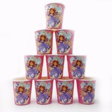10pcs/lot Sofia Princess Paperboard Cup Cartoon Birthday Decoration Theme Party Supply