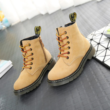 2017 New Kids Martin boots boys girls high quality casual boot children's shoes for summer winter snow warm boots fashion shoes(China)
