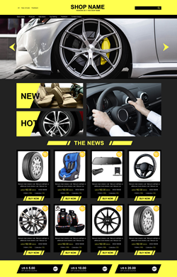 ♥L&E设计♥时尚汽车配件 三色模板L67