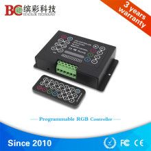 BC-380-8A Programmable 5V 24V 36V DC IR remote wireless control DIY rgb led strip controller