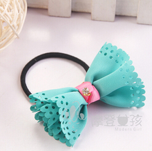 2015 New Arrival styling tools Polka Dot Hollow Hair ring accessories used by women young girl and children