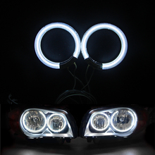 2 rings+1 ccfl inverter White 60MM 65MM 110MM 120MM 140MM 75MM 89MM CCFL Angel Eyes Headlight Halo Ring Warning Lamps with Cover