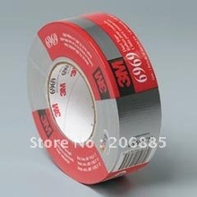 3M 6969Silver Cloth Duct tape/strong water proof single sided tape/48mm*55M/Silver color