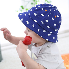 Summer Baby Bucket Hat Toddler Infant Cotton Sun Hats Outdoor Children Girls Boys Crown Pattern Cap(China)
