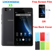 In Stock Original Doogee X5 MTK6580 1.3GHz Quad Core 5.0 Inch 1280*720 IPS 1GB RAM 8GB ROM 5.0MP 2400mAh 3G WCDMA Cell Phone OTA(China)