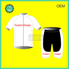 Custom Made & Design Free:New Unisex Bike Racing Team Road Biker Cycling Short Sleeve Jersey Padded  Bib Suit Set C001