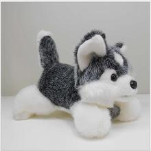 25cm 35cm 45cm giant stuffed animal husky dog doll super soft children toys high lever brinquedos valentine gift
