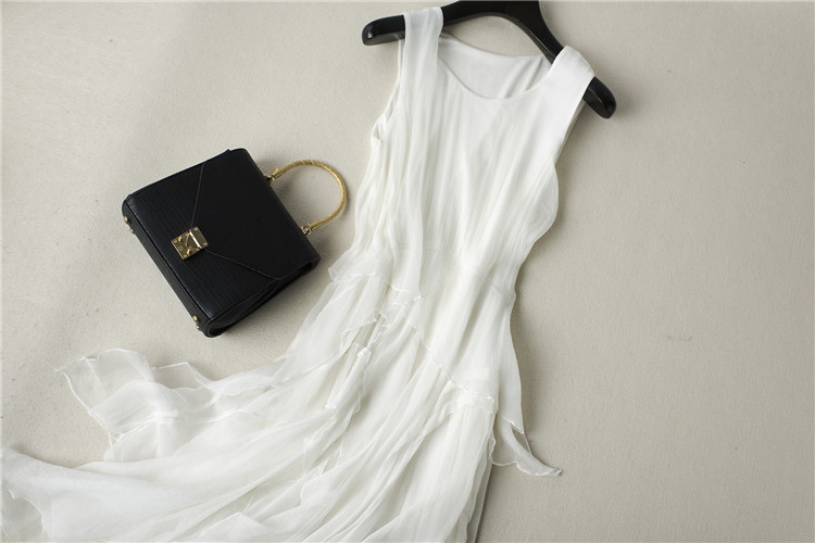 pure silk dress white