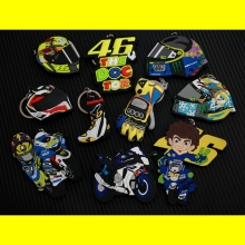 Free shipping 46# Rossi Valentino the doctors KBS ATV Key ring/chains MOTO GP Motorcycle Motocross Helmet Design