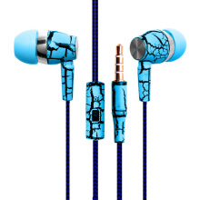 CYSHDAI Crack Earphone Cloth Rope Earpieces Stereo Bass MP3 Music Headset with Micrphone for Cellphone MP3 MP4(China)
