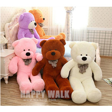 60cm-120cm 5 Colors Giant Teddy Bear Skins Soft  PP Cotton Mini Plush Toy Big Teddy Bear Gifts For Birthday/Lovers/Christmas