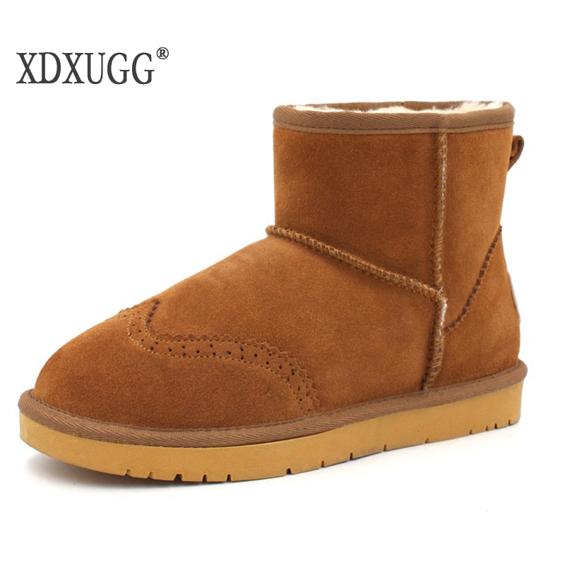 NEW ug Genuine leather snow boots female boots thick warm winter boots low cylinder thickening womens shoes lovers<br>