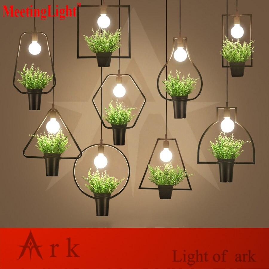 restaurant lamp indoor lighting plastic bonsai lamp Vintage pendant light LED lights warehouse style light fixture<br>