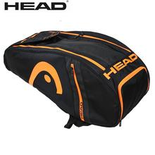 Head Tennis Rackets Backpack Badminton Shoulder Bag With Independent Shoe Bag For Outdoor Sports 6 pieces