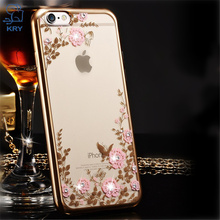 Buy KRY Jewelled Phone Cases iPhone 7 Case 5S SE Luxury TPU Cover iPhone 6 Case 7 6S 8 Plus Cases Plating Frame Capa Coque for $1.69 in AliExpress store