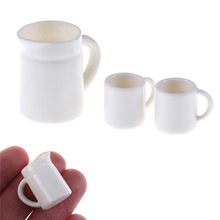 New 1set mini kawaii Pot Set Dollhouse Direction Furniture Toys Coffee Tea Cups Acc 1:12 Dolls House Miniature Cups(China)