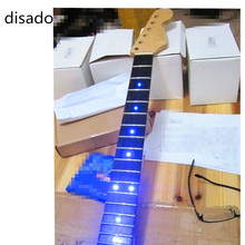 disado inlay LED dots Rosewood Fretboard maple Electric Guitar Neck Wholesale Guitar Parts Musical instrument accessories